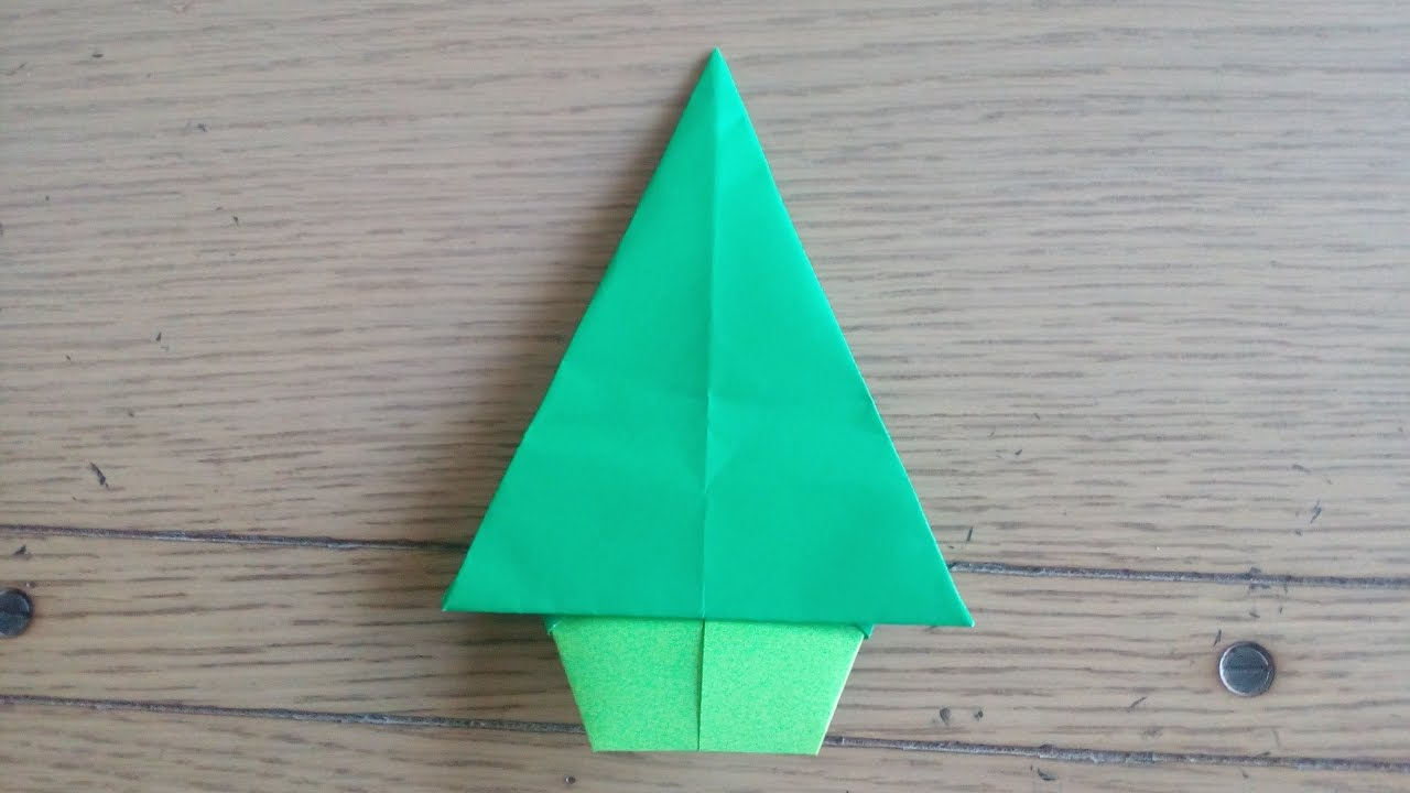 Origami facile sapin de no l christmas tree by alexandre 6 ans youtube - Sapin origami facile ...
