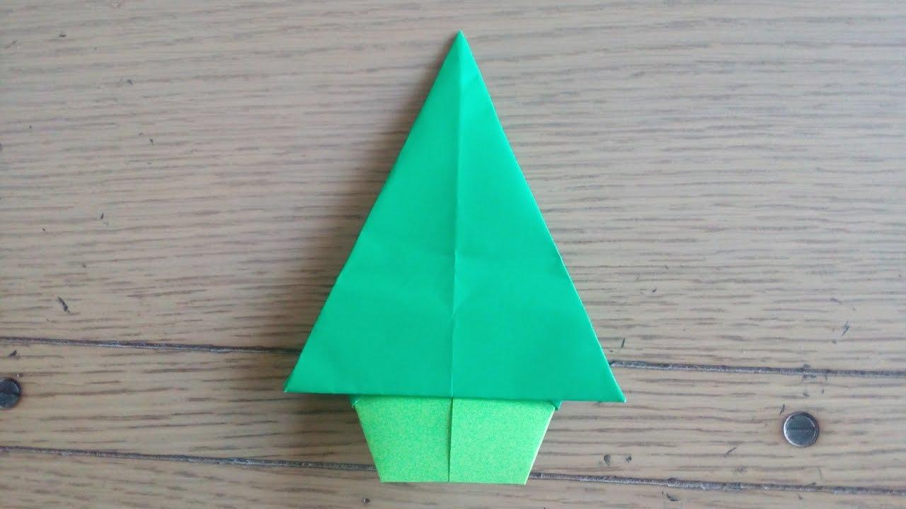 Origami Facile Sapin De Noel Christmas Tree By Alexandre 6 Ans Youtube