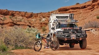 EP:14 RIDING RED BULL RAMPAGE LINES - FREERIDE MOUNTAIN BIKING - FULL TIME TRUCK CAMPING