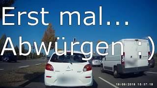 Fahranfänger oder nicht das eigene Auto - Dashcam Germany Mannheim