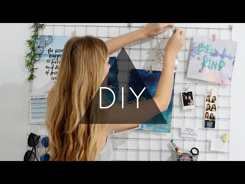 DIY Wall Decor (hexagon shelves, banner & grid bulletin board!)
