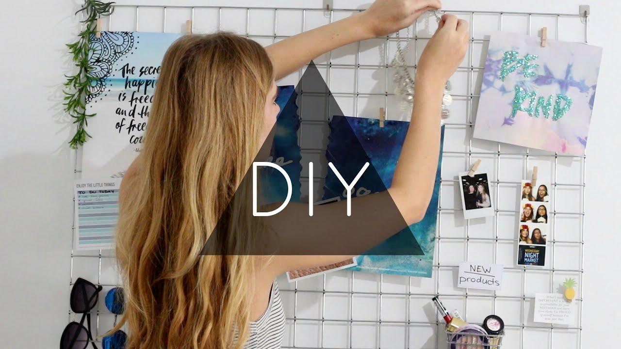 DIY Wall Decor Hexagon Shelves Banner Grid Bulletin Board