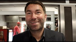EDDIE HEARN REACTS TO STOPPAGE WINS FOR DEVIN HANEY FILIP HRGOVIC MICHAEL HUNTER MGM MARYLAND
