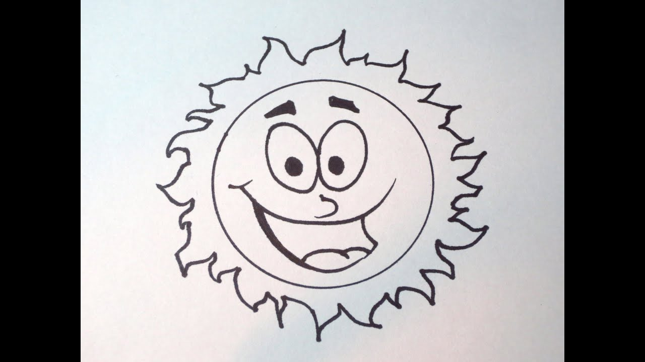 How To Draw A Simple Cartoon Sun