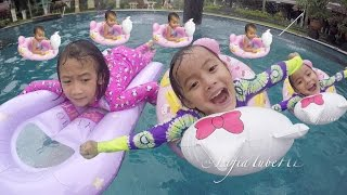 Lifia Niala berenang - baby swimming in pool Kids - Swimming babies in the pool @LifiaTubeHD
