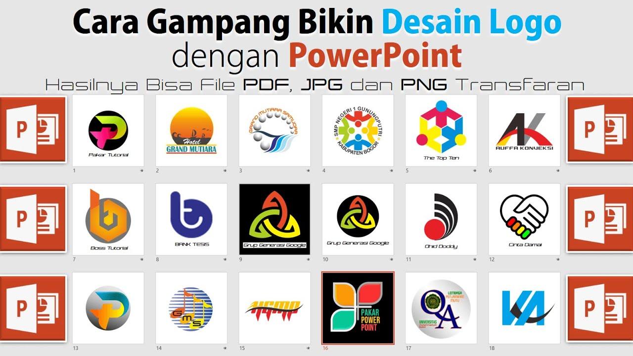 Cara Buat Desain Logo dengan PowerPoint