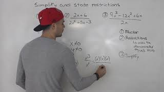MCR3U - Simplifying Ratİonal Expressions Part 1 - Grade 11 Functions
