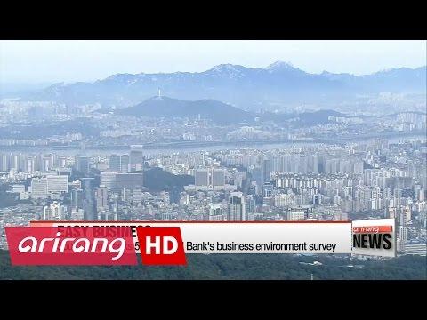 S. Korea ranks 5th in World Bank's business environment survey