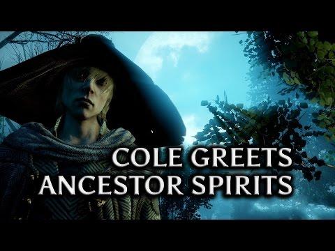 Dragon Age: Inquisition - Jaws of Hakkon DLC - Cole greets Avvar ancestor spirits