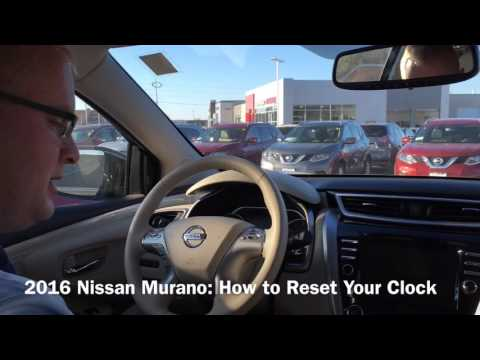 How To Reset Your Clock on a 2015 and 2016 Nissan Murano