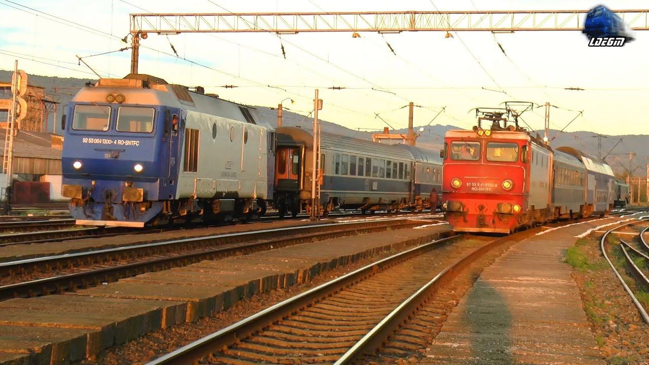 Trenurile Dimineții în Gara Beclean pe Someș/Morning Trains in Beclean pe Someș Station 17 June 2021