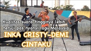 Gambar cover Demi cintaku-Inka cristy&amie search cover by pengamen nada tinggi handsright