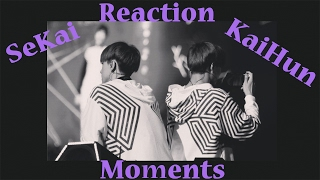 exo sekai kaihun sehun kai moments reaction