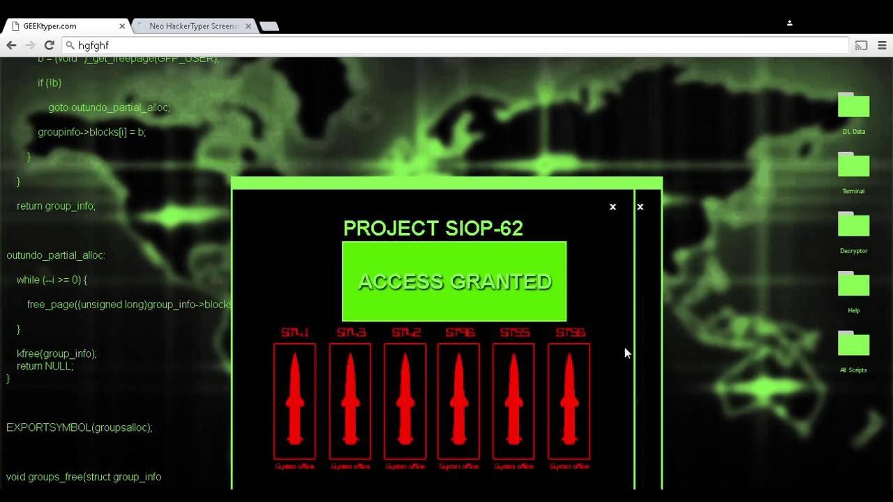 Awesome fake hacking website - YouTube