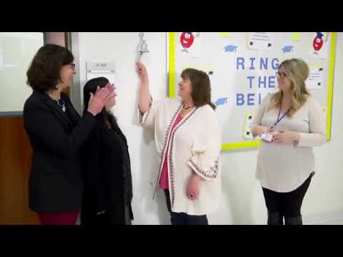 Ringing the bell for Tracy Belcher