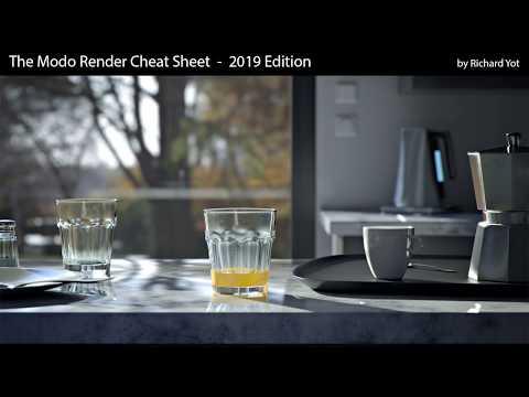 The Modo Render Cheat Sheet - 2019 Edition (trailer)