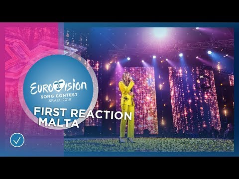 First reaction of Michela Pace from Malta 🇲🇹 - National Selection - Eurovision 2019