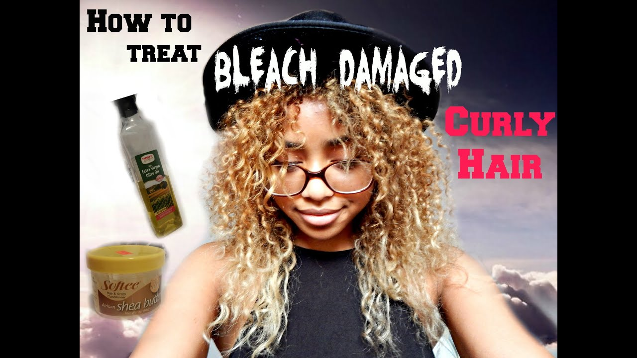 How To Treat Bleach Damaged Curly Hair My First Video