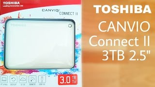 ASMR Toshiba Canvio Connect II 3 TB hard drive