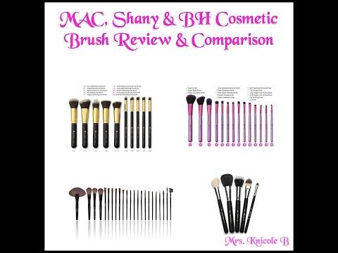 MAC, Shany & BH Cosmetics Brush Review & Comparison