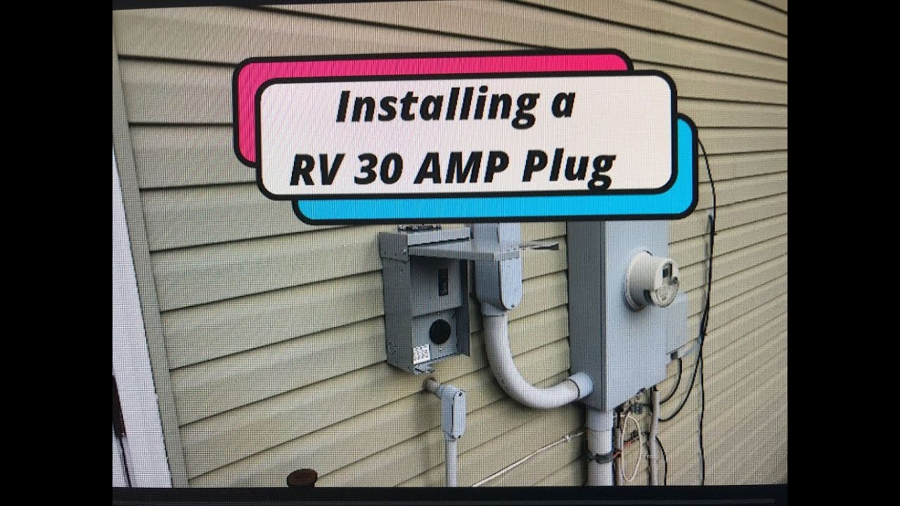 Installing a RV 20 Amp plug to your home