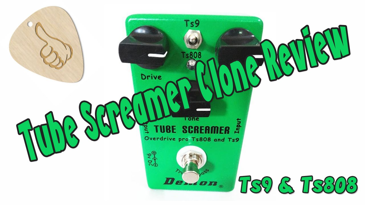 Ibanez Tube Screamer Clone Test - TS9 TS808 Tube Screamer by