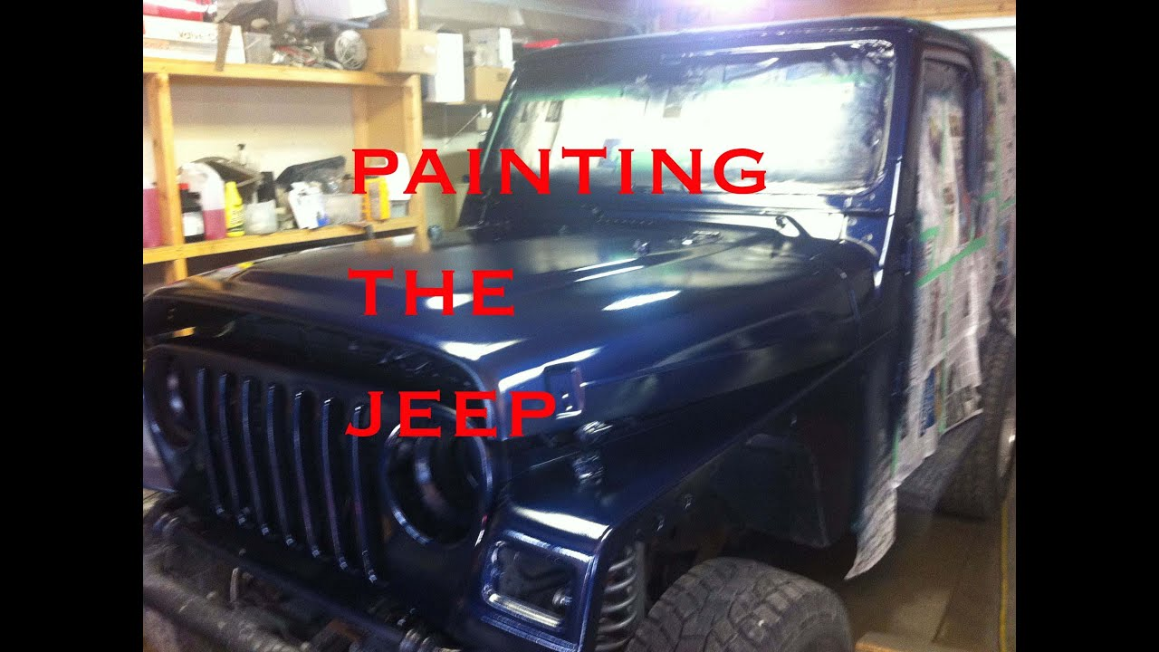 It S Time To Paint The Jeep In A Dirty Garage Youtube