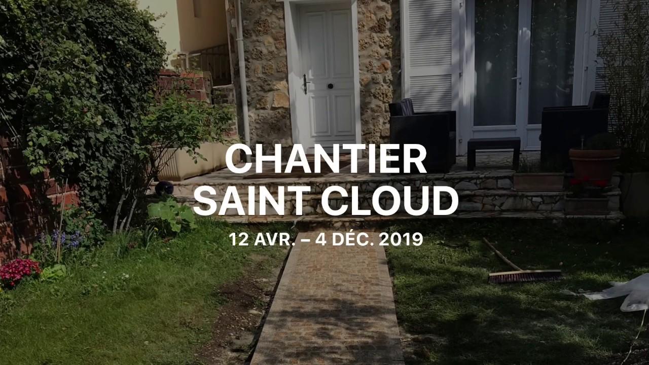 Chantier de pavage à Saint Cloud - Pedra Bonita
