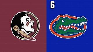 2019 College Basketball Florida State vs #6 Florida Highlights