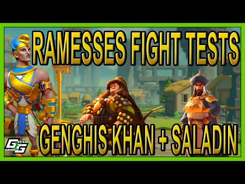 RAMESSES BATTLE TESTS: KHAN + SALADIN - COUNTER THE COUNTER? - Rise Of Kingdoms