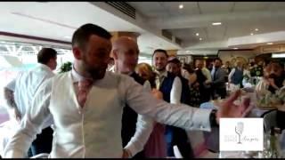 Singing Waiters get the Conga out @ DW Stadium Wigan