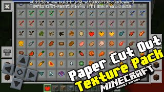 Minecraft PE 0.16.0 - Paper Cut Out Texture Pack - Texturas Minecraft Pocket Edition