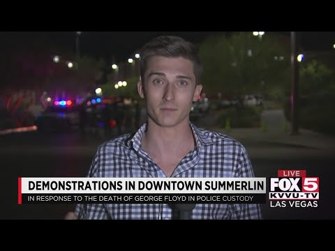 Demonstrations At Downtown Summerlin, Las Vegas Strip