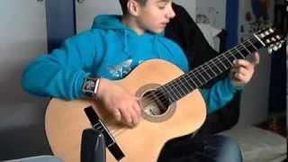 Видео урок игры на гитаре простая мелодия Кузнечик