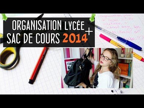 Organisation de lycée + School bag