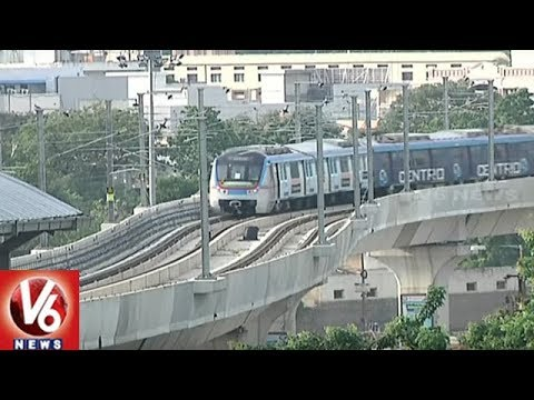 Hyderabad Metro Services Stopped Due to Technical Problem | V6 News