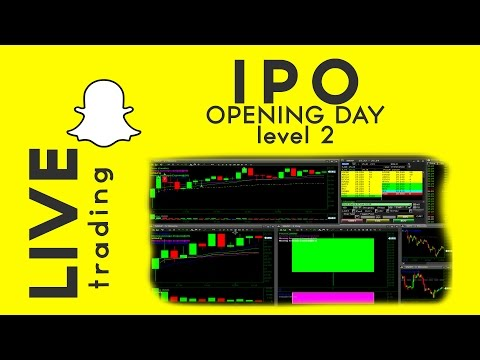 SnapChat IPO intraday LIVE trading $SNAP