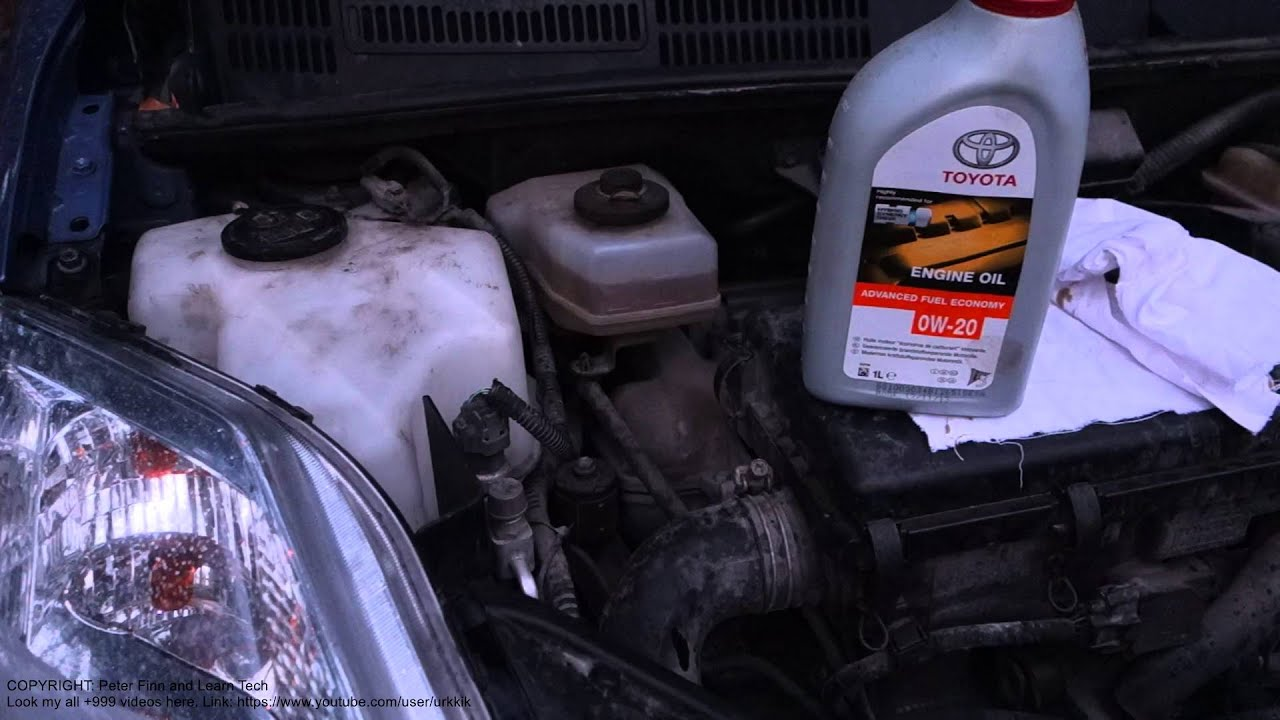 How To Add Engine Oil Toyota Prius Years 1998 2017