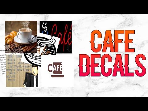 Roblox Bloxburg - Cafe Decal Id's