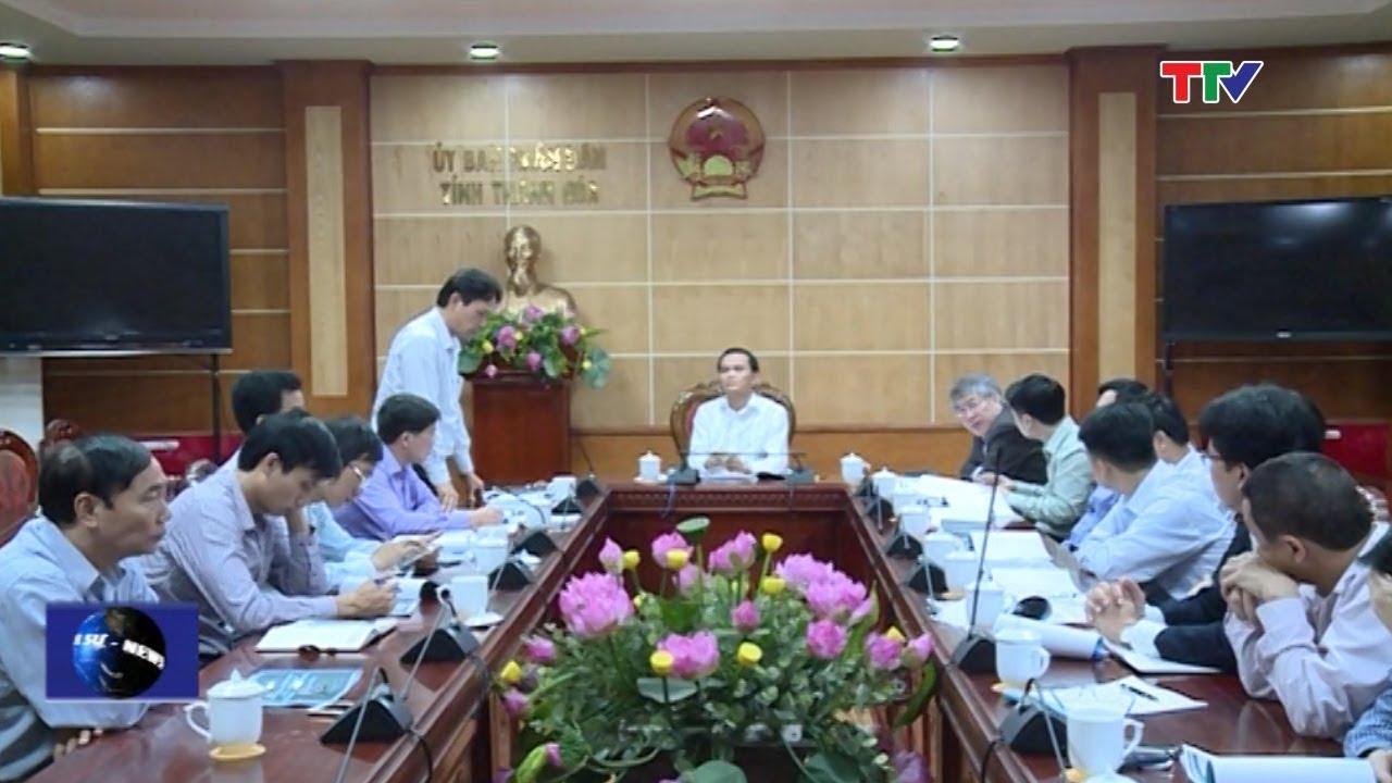 (TTV) UBND tỉnh nghe và cho ý kiến vào điều chỉnh quy hoạch chung xd và mở rộng thị xã Bỉm Sơn