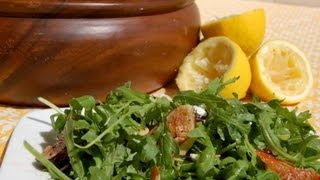{Salad Recipe} Arugula Salad with Lemon Vinaigrette by CookingForBimbos.com