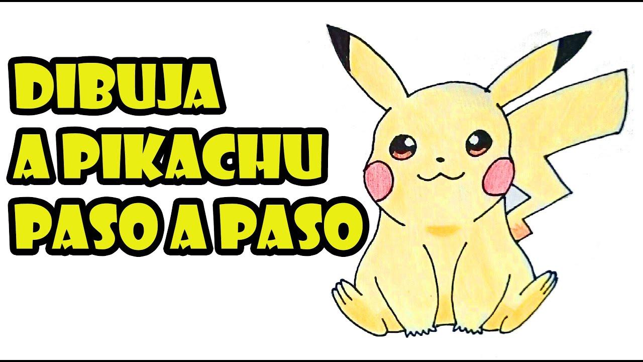 Como dibujar a Pikachu facil paso a paso  How to draw Pikachu