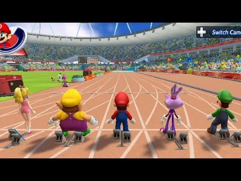 Mario & Sonic at the London 2012 Olympic Games – 100 Meter (All Characters)