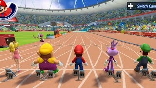 Mario & Sonic at the London 2012 Olympic Games - 100 Meter (All Characters)