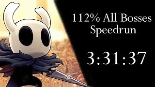 Hollow Knight 112% All Bosses NMG Speedrun - 3:31:37 loadless [WR]