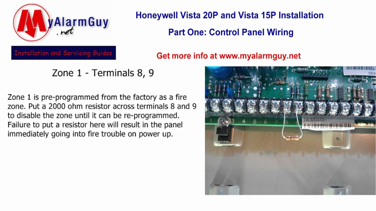 [DVZP_7254]   How to Wire a Honeywell Security System, Vista 15P and Vista 20P - YouTube | Vista 20p Wiring Diagram |  | YouTube