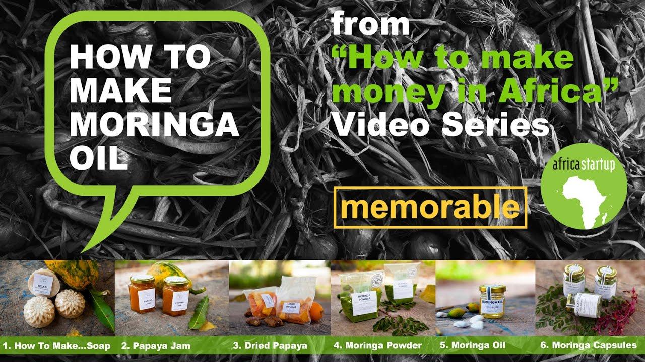 How to make Moringa Oil