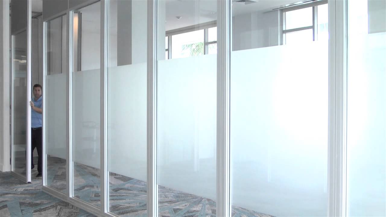 Hufcor Acoustic Glass Wall - YouTube