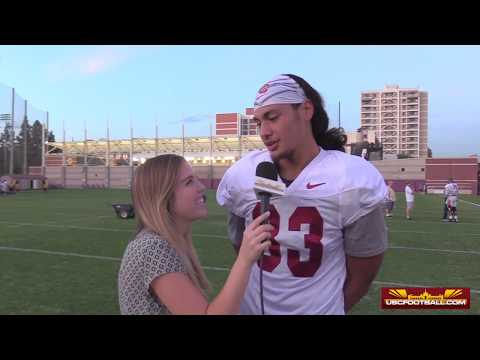 Freshman Josh Falo is a productive target for the Trojans