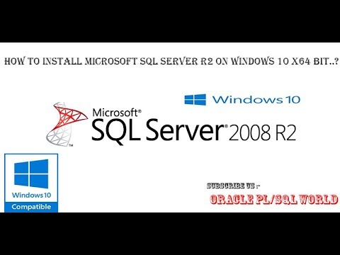 Download and instal sql server 2008 r2 full youtube.